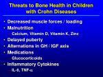 threats to bone health in children with crohn diseases
