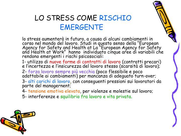 LO STRESS COME