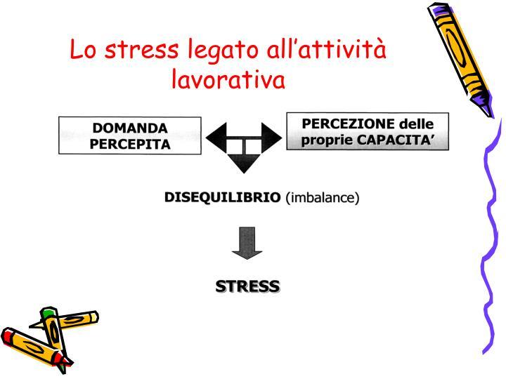 Lo stress legato all'attività lavorativa
