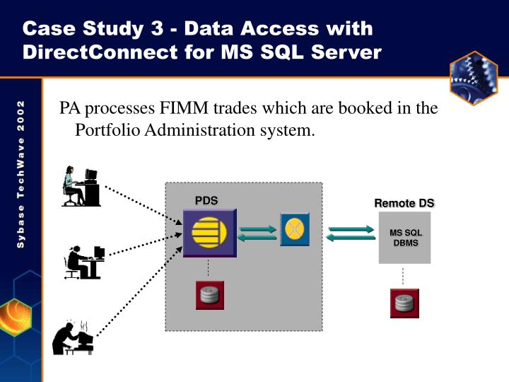 Case Study 3 - Data Access with DirectConnect for MS SQL Server