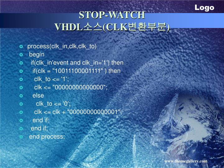 STOP-WATCH