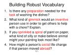 building robust vocabulary