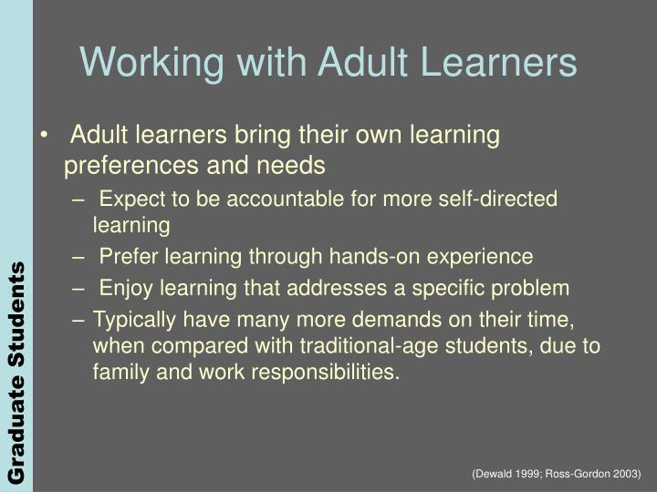 Working with Adult Learners
