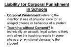 liability for corporal punishment in schools