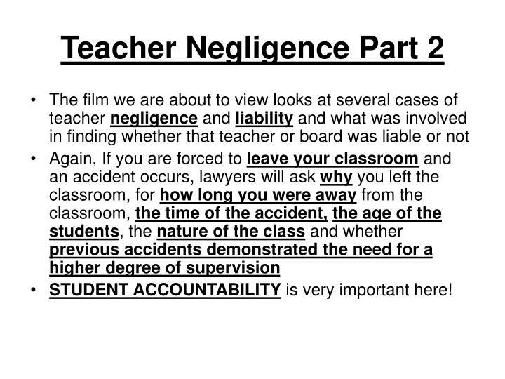 Teacher Negligence Part 2