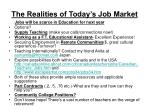 the realities of today s job market