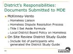 district s responsibilities documents submitted to mde1