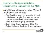 district s responsibilities documents submitted to mde6