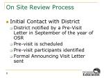 on site review process3