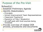 purpose of the pre visit1