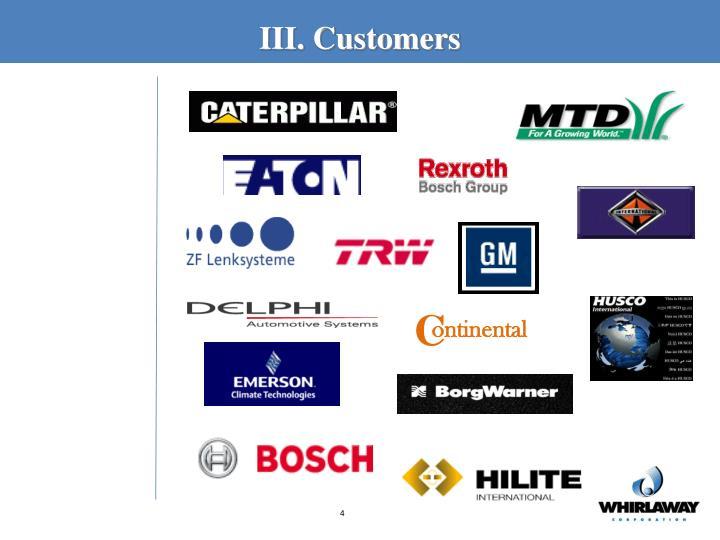 III. Customers