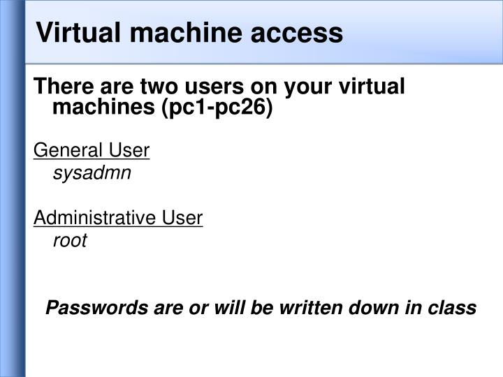 Virtual machine access