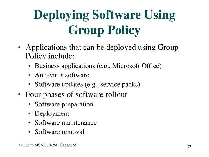 Deploying Software Using Group Policy
