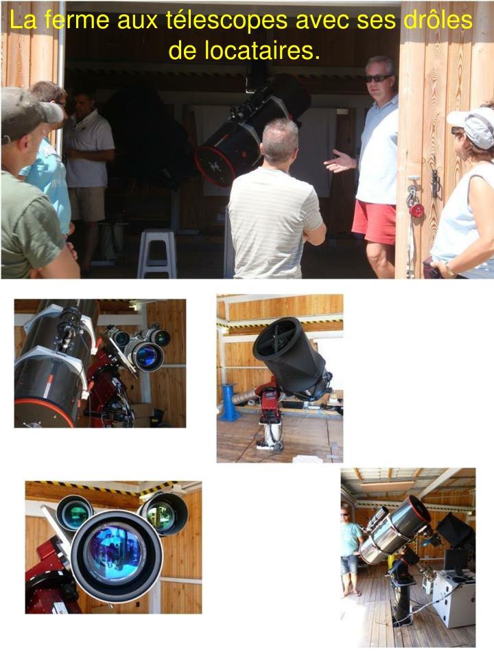 La ferme aux télescopes avec ses drôles