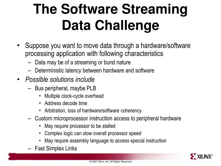 The Software Streaming Data Challenge