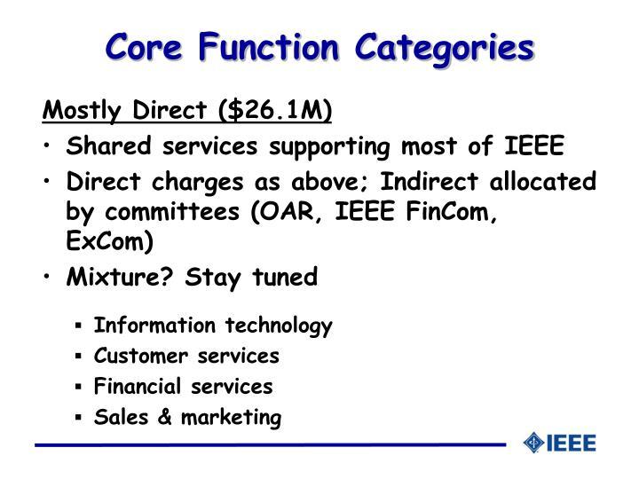 Core Function Categories