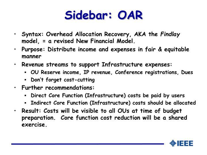 Sidebar: OAR