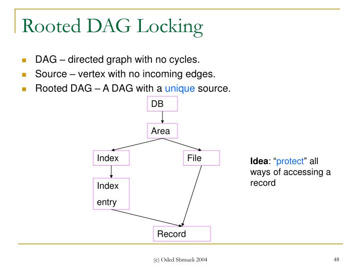 Rooted DAG Locking