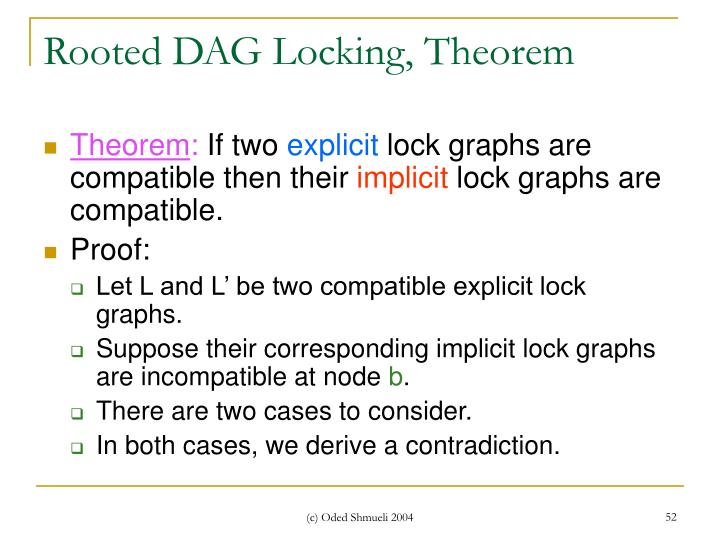 Rooted DAG Locking, Theorem