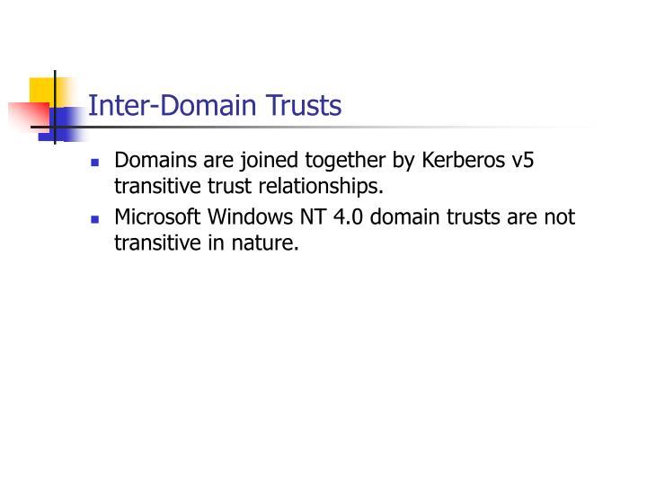 Inter-Domain Trusts
