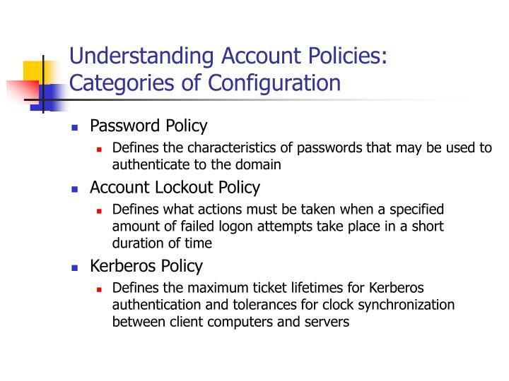 Understanding Account Policies: