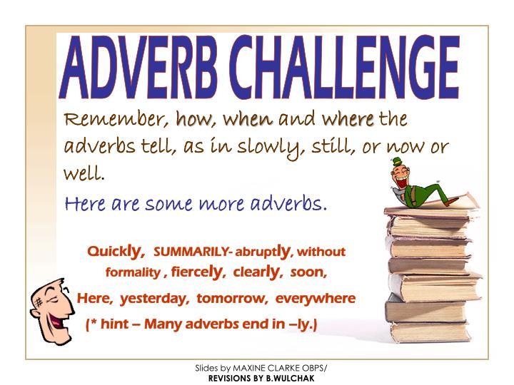 ADVERB CHALLENGE