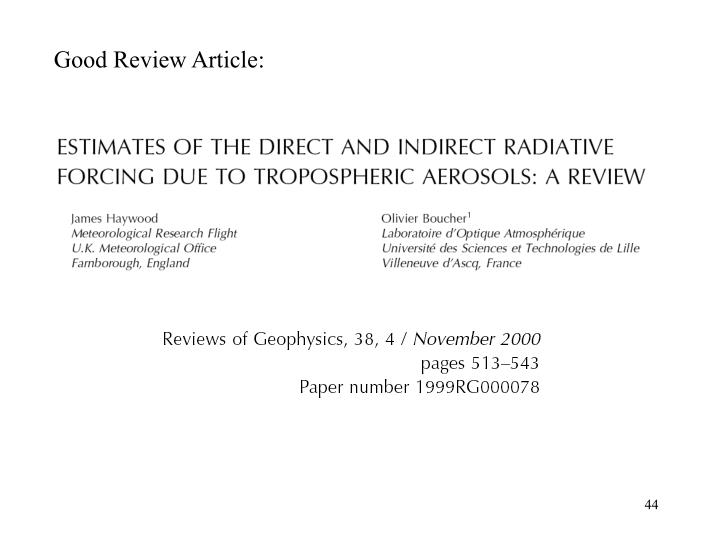 Good Review Article: