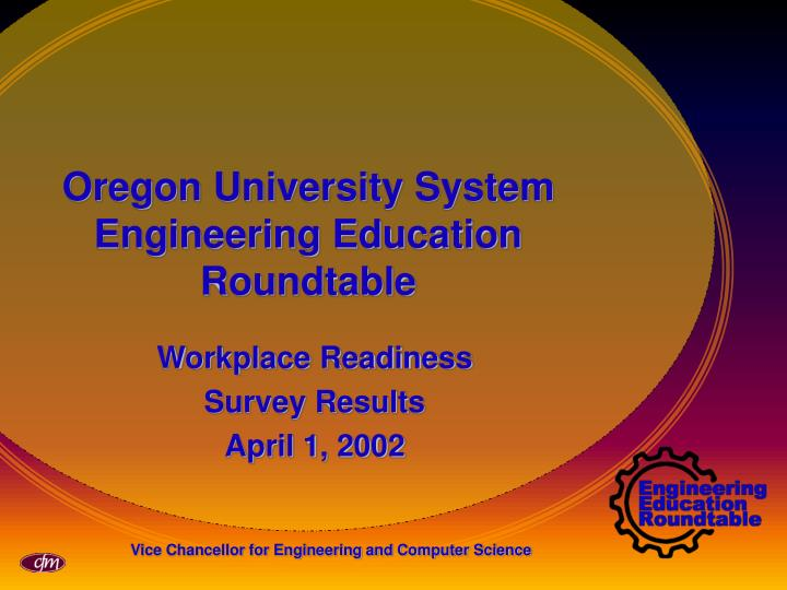 Oregon university system engineering education roundtable