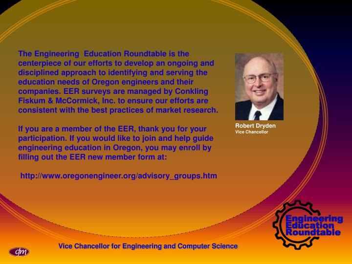 The Engineering  Education Roundtable is the centerpiece of our efforts to develop an ongoing and di...