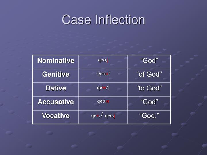 Case Inflection