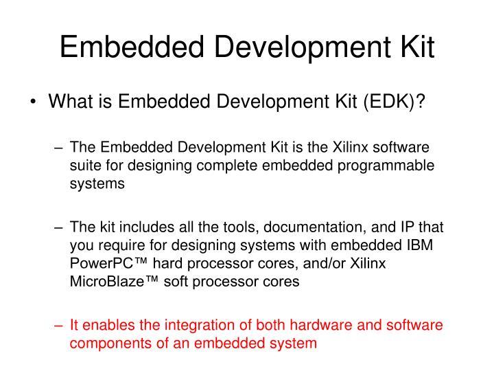 Embedded Development Kit