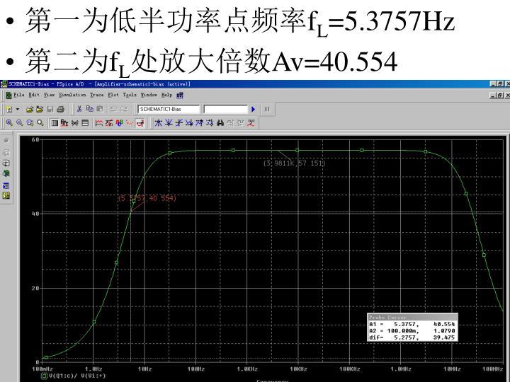 第一为低半功率点频率