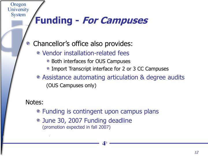 Funding -