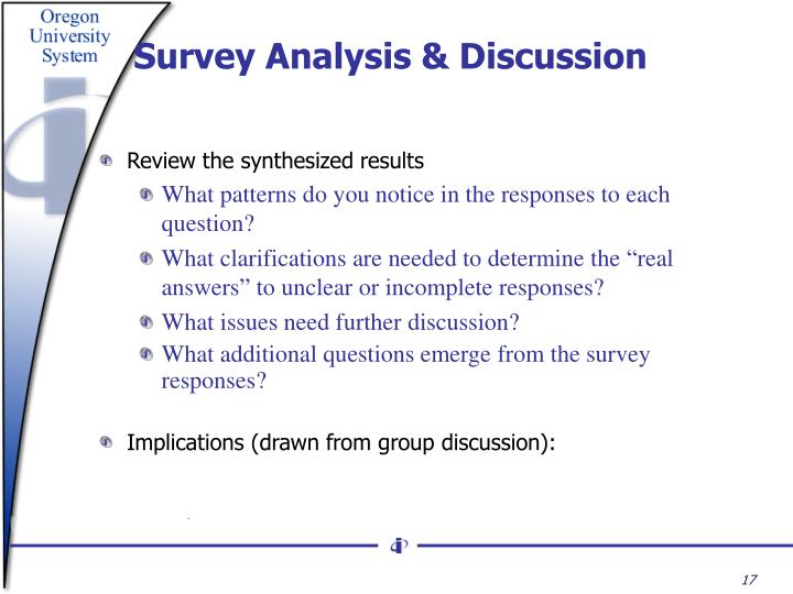 Survey Analysis & Discussion