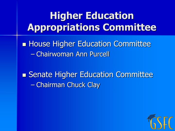 Higher Education Appropriations Committee