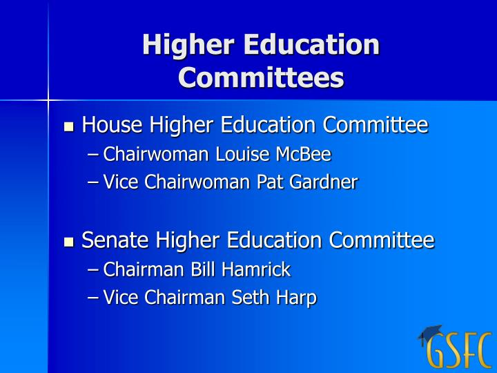 Higher Education Committees