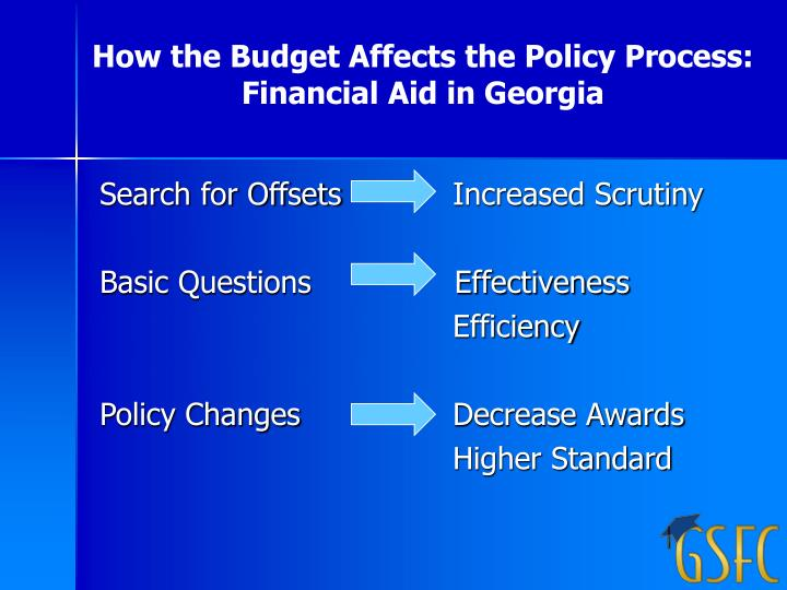 How the Budget Affects the Policy Process: