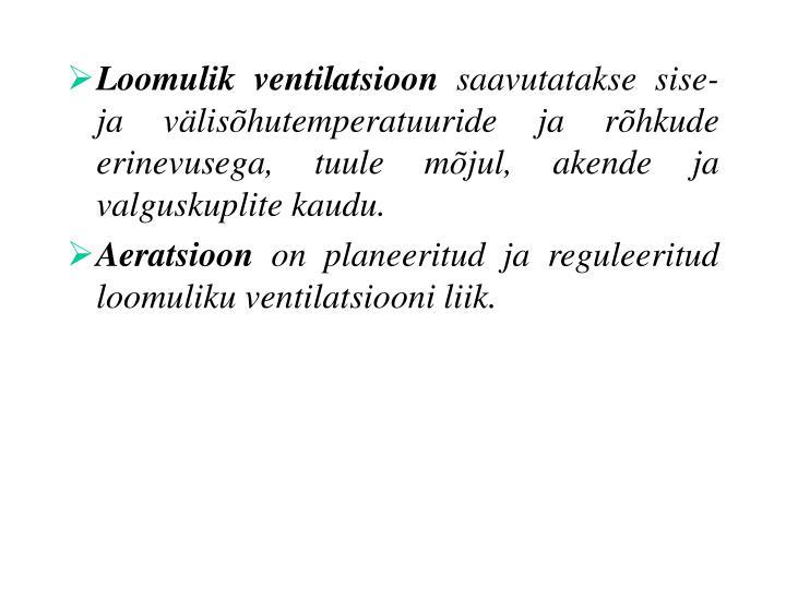 Loomulik ventilatsioon