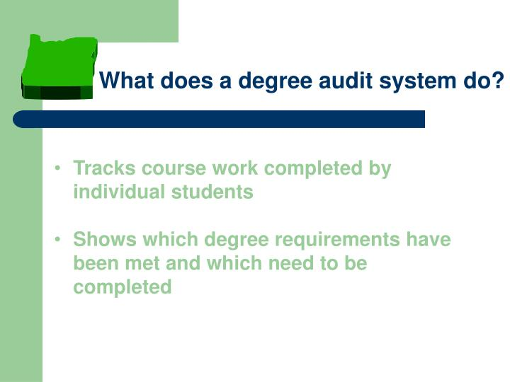 What does a degree audit system do?