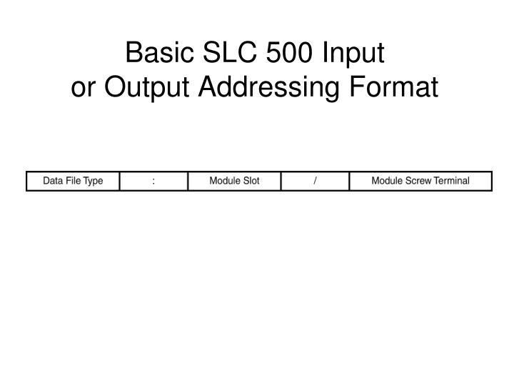 Basic SLC 500 Input