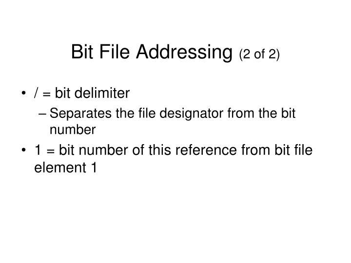 Bit File Addressing