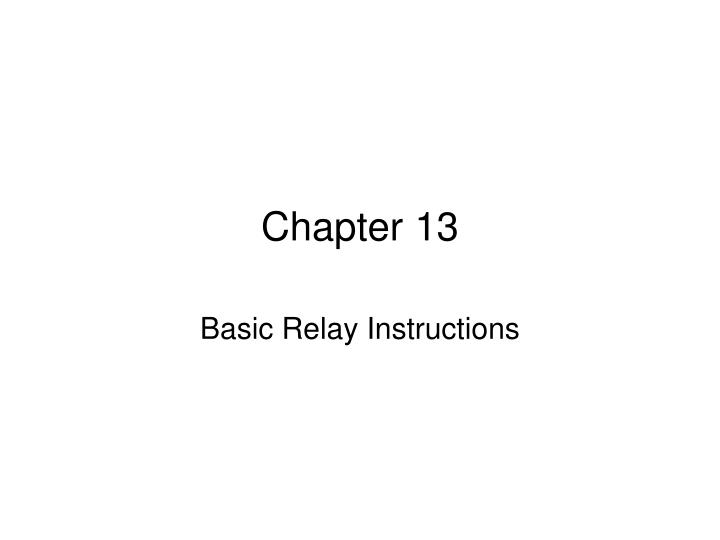 Chapter 13