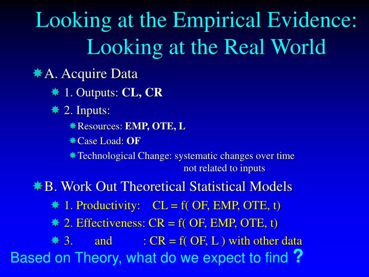Looking at the Empirical Evidence: