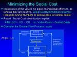 minimizing the social cost3