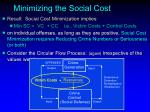 minimizing the social cost4