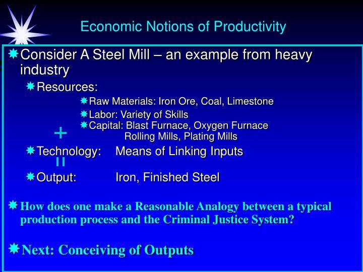 Economic Notions of Productivity