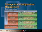 change and configuration management technologies