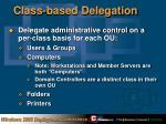 class based delegation
