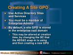 creating a site gpo