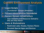 current environment analysis